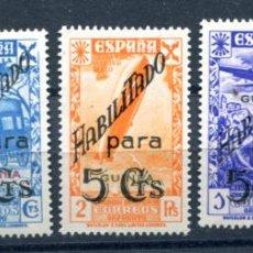 Francobolli: EDIFIL 7/11 DE BENEFICENCIA DE GUINEA ESPAÑOLA. SERIE COMPLETA.NUEVOS SIN FIJASELLOS.. Lote 136300152