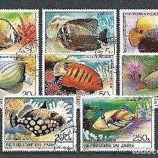 Sellos: ZAIRE,1980,PECES DE CORAL,USADOS,YVERT 995-1002. Lote 136538062