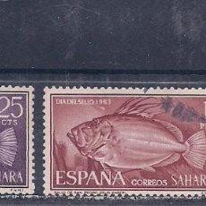 Sellos: SAHARA 1964 - DIA DEL SELLO - PECES - EDIFIL Nº 222/224 USADOS. Lote 136563830