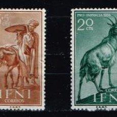 Sellos: IFNI Nº 152/55 1959 PRO INFANCIA FAUNA DOMÉSTICA. Lote 138078226