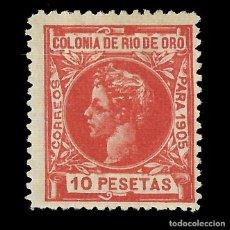 Sellos: RÍO DE ORO.1905.ALFONSO XIII.10P NUEVO*.EDIFIL 16.MUESTRA, Nº000 000. Lote 138337446