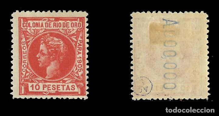 Sellos: RÍO DE ORO. 1905. Alfonso XIII. 10 p. rojo naranja. Nuevo. Edif. Nº 16 nº ooo ooo - Foto 2 - 138337446