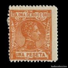 Sellos: RÍO DE ORO. 1907. ALFONSO XIII. 1P.VIOLETA. NUEVO*. EDIF. Nº28. Lote 138633074