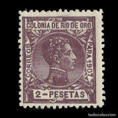 Sellos: RÍO DE ORO.1907.ALFONSO XIII.2P.HN. EDIFIL.29. Lote 138633206