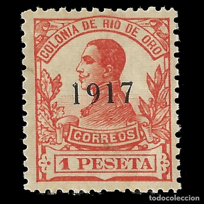 RÍO DE ORO. 1917 ALFONSO XIII. 1P.BERMELLÓN. NUEVO**. EDIFIL Nº101 (Sellos - España - Colonias Españolas y Dependencias - África - Río de Oro)