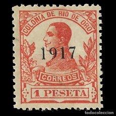 Sellos: RÍO DE ORO. 1917 ALFONSO XIII. 1P.BERMELLÓN. NUEVO**. EDIFIL Nº101. Lote 138718070