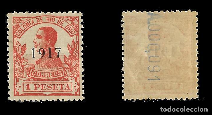 Sellos: RÍO DE ORO. 1917 Alfonso XIII. 1p.bermellón. Nuevo**. Edifil Nº101 - Foto 2 - 138718070