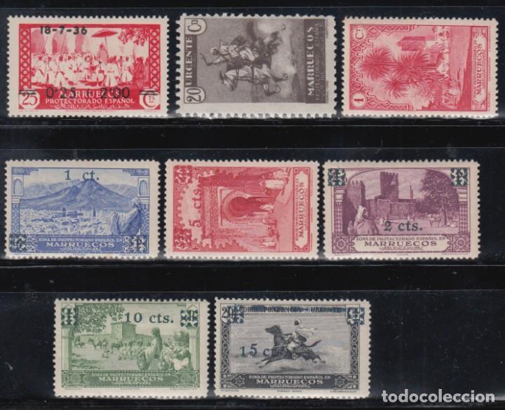 MMARUECOS , 1931-1936 EDIFIL Nº 132, NE11, 161, 162 / 166 /*/, (Sellos - España - Colonias Españolas y Dependencias - África - Marruecos)