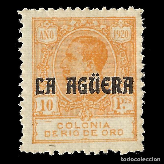LA AGÜERA. 1920.SELLOS DE RIO DE ORO. 10P.NARANJA. NUEVO. EDIF. Nº13 Nº 000 000 (Sellos - España - Colonias Españolas y Dependencias - África - La Agüera)