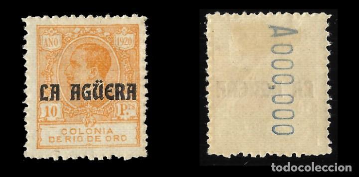 Sellos: LA AGÜERA. 1920.Sellos de Rio de Oro. 10p.naranja. Nuevo. Edif. Nº13 nº 000 000 - Foto 2 - 138984626