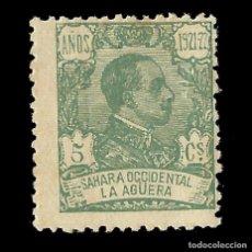 Sellos: SELLOS ESPAÑA. COLONIAS ESPAÑOLAS. LA AGÜERA. 1923.ALFONSO XIII. 5C.VERDE PÁLIDO. NUEVO. EDIF. Nº16. Lote 138986310