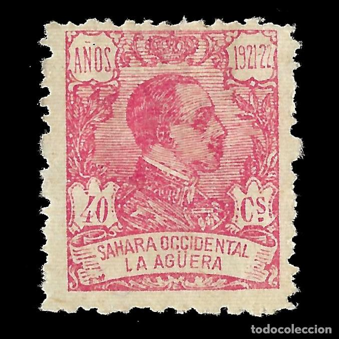 LA AGÜERA. 1923.ALFONSO XIII. 40C.ROSA. NUEVO. EDIF. Nº22 (Sellos - España - Colonias Españolas y Dependencias - África - La Agüera)