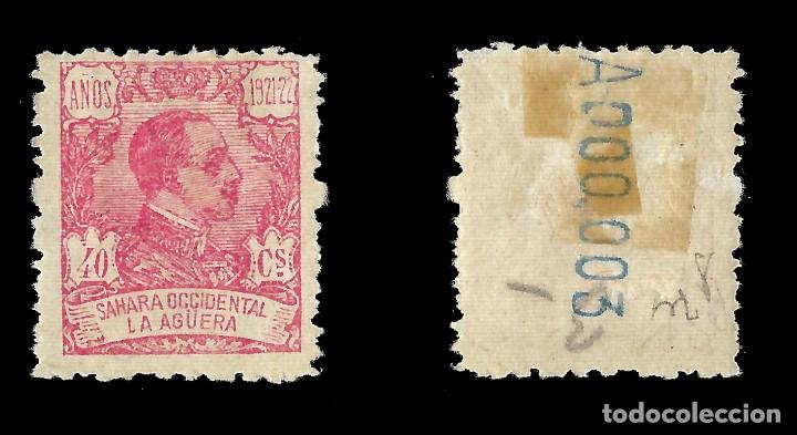 Sellos: LA AGÜERA. 1923.Alfonso XIII. 40c.rosa. Nuevo. Edif. Nº22 - Foto 2 - 138989022