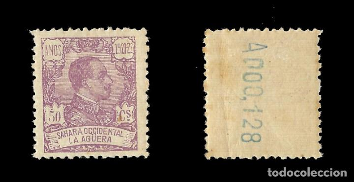 Sellos: . LA AGÜERA. 1923.Alfonso XIII. 50c.lila Nuevo. Edif. Nº23 - Foto 2 - 138989518
