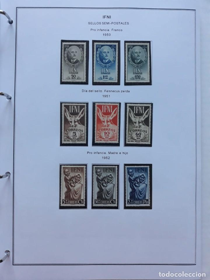 Sellos: IFNI. COLONIA ESPAÑOLA. PERIODO 1950 - 1968 NUEVO. HOJAS CON FILOSETUCHES - Foto 2 - 139084074