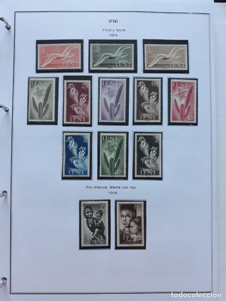 Sellos: IFNI. COLONIA ESPAÑOLA. PERIODO 1950 - 1968 NUEVO. HOJAS CON FILOSETUCHES - Foto 4 - 139084074