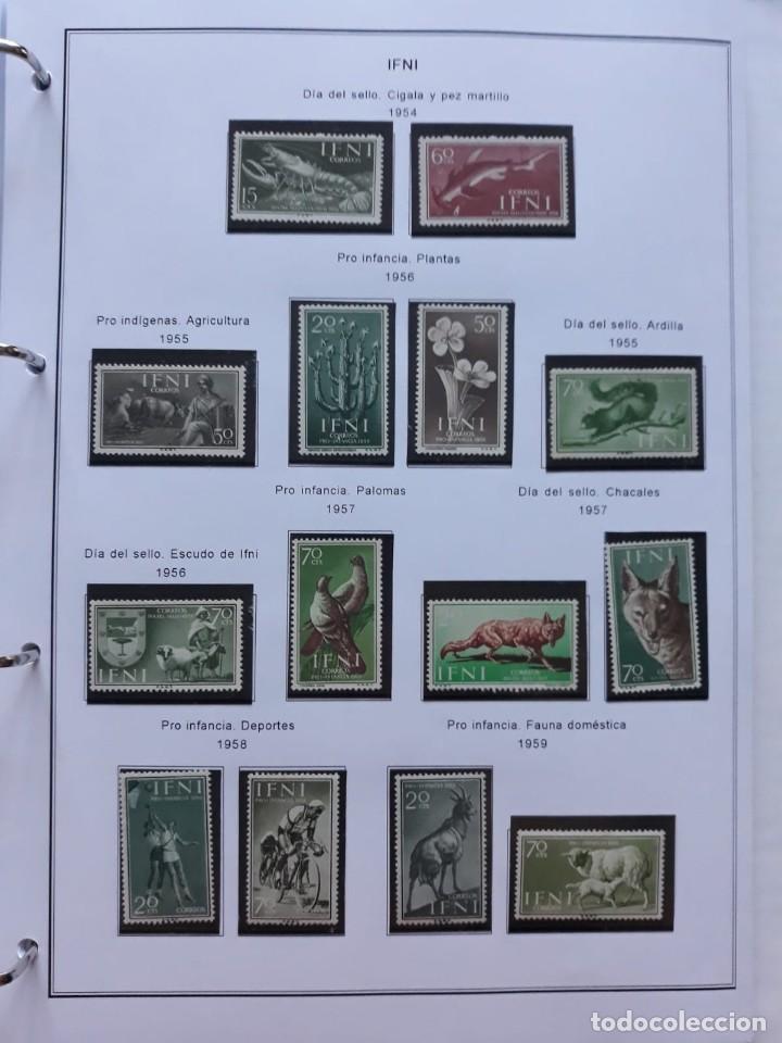 Sellos: IFNI. COLONIA ESPAÑOLA. PERIODO 1950 - 1968 NUEVO. HOJAS CON FILOSETUCHES - Foto 5 - 139084074
