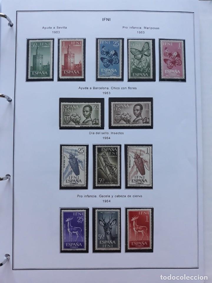 Sellos: IFNI. COLONIA ESPAÑOLA. PERIODO 1950 - 1968 NUEVO. HOJAS CON FILOSETUCHES - Foto 8 - 139084074