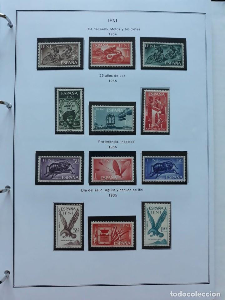 Sellos: IFNI. COLONIA ESPAÑOLA. PERIODO 1950 - 1968 NUEVO. HOJAS CON FILOSETUCHES - Foto 9 - 139084074