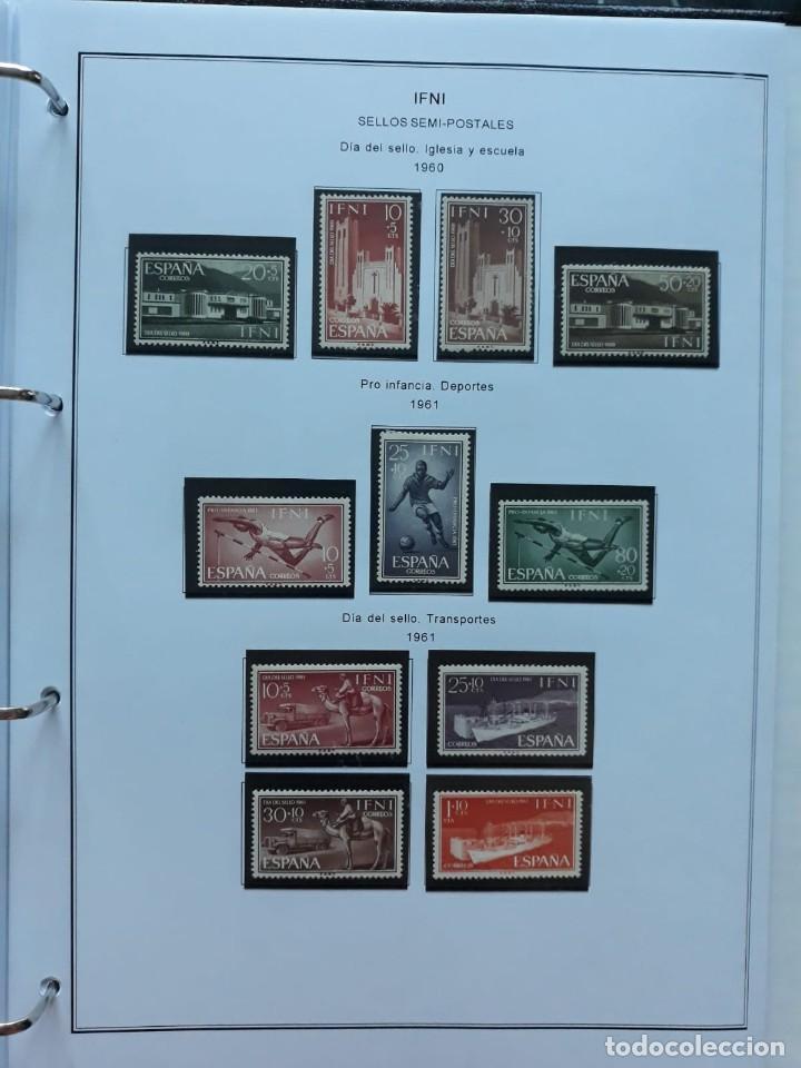 Sellos: IFNI. COLONIA ESPAÑOLA. PERIODO 1950 - 1968 NUEVO. HOJAS CON FILOSETUCHES - Foto 12 - 139084074