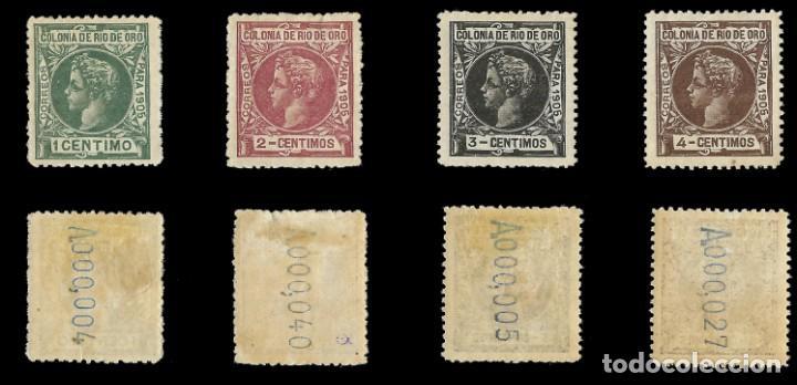 Sellos: RÍO DE ORO. 1905. Alfonso XIII. SERIE COMPLETA.Nuevo. Edif. Nº1 a nº16 - Foto 2 - 139478886