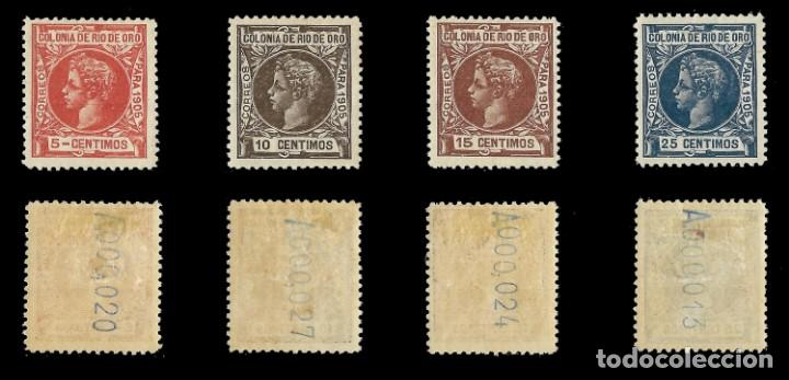 Sellos: RÍO DE ORO. 1905. Alfonso XIII. SERIE COMPLETA.Nuevo. Edif. Nº1 a nº16 - Foto 3 - 139478886