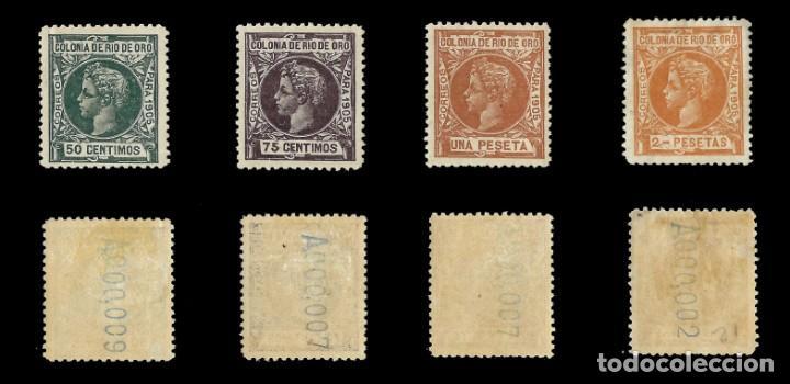 Sellos: RÍO DE ORO. 1905. Alfonso XIII. SERIE COMPLETA.Nuevo. Edif. Nº1 a nº16 - Foto 4 - 139478886