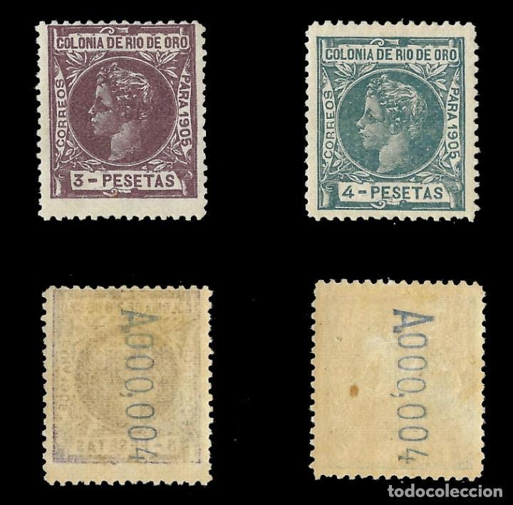 Sellos: RÍO DE ORO. 1905. Alfonso XIII. SERIE COMPLETA.Nuevo. Edif. Nº1 a nº16 - Foto 5 - 139478886