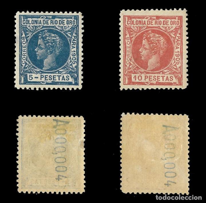 Sellos: RÍO DE ORO. 1905. Alfonso XIII. SERIE COMPLETA.Nuevo. Edif. Nº1 a nº16 - Foto 6 - 139478886
