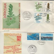 Sellos: SAHARA Nº 256/64 , 1967 . AÑO COMPLETO EN SOBRE PRIMER DIA SPD / FDC EX COLONIAS .. Lote 139849142