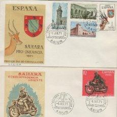 Sellos: SAHARA Nº 288/96 , 1971 AÑO COMPLETO EN SOBRE PRIMER DIA SPD / FDC EX COLONIAS .. Lote 139851510