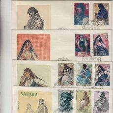 Sellos: SAHARA Nº 297/309 , 1972 AÑO COMPLETO EN SOBRE PRIMER DIA SPD / FDC EX COLONIAS .. Lote 139851898
