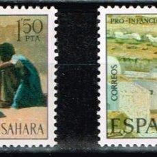 Sellos: SAHARA Nº 320/21 1975 PRO INFANCIA PINTURAS. Lote 140042134