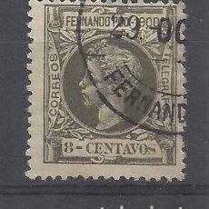Sellos: ALFONSO XIII FERNANDO POO 1900 EDIFIL 85 USADO VALOR 2019 CATALOGO 4.70 EUROS. Lote 140483298