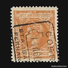 Sellos: ELOBEY ANNOBÓN CORISCO 1905.ALFONSO XIII. 50C.NARANJA.USADO. EDIF.Nº 27. Lote 140833698