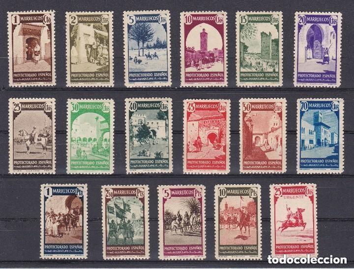 MARRUECOS AÑO 1940 TIPOS DIVERSOS, EDIFIL Nº 200 A 216* * (NUEVOS) (Sellos - España - Colonias Españolas y Dependencias - África - Marruecos)