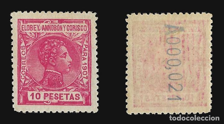 Sellos: ELOBEY ANNOBÓN CORISCO 1907.Alfonso XIII. 10p.rosa. Nuevo**. Edif.nº 50 - Foto 2 - 140920938