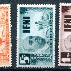 Sellos: EDIFIL 73/75 DE IFNI. NUEVOS SIN FIJASELLOS. Lote 141512986
