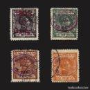 Sellos: RIO DE ORO 1908.ALFONSO XIII.HABILITADOS.SERIE COMPLETA. MATSELLO.EDIF.Nº37-40. Lote 141684694
