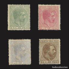 Sellos: FERNANDO POO. 1882-1889.ALFONSO XII.SERIE NUEVO* EDIFIL 5-8. Lote 141805366