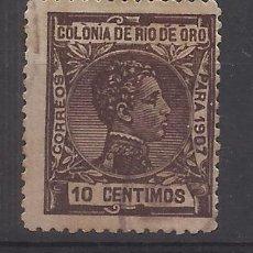 Sellos: ALFONSO XIII RIO DE ORO 1907 EDIFIL 23 USADO VALOR 2019 CATALOGO 5.- EUROS. Lote 142243658