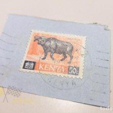 Sellos: SELLO DE KENYA USADO - BUFFALO. Lote 142364514