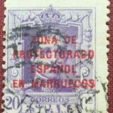 Sellos: MARRUECOS. SELLOS DE ESPAÑA HABILITADOS, 1923-1930. 20 CTS. VIOLETA (Nº 85 EDIFIL).. Lote 142490482