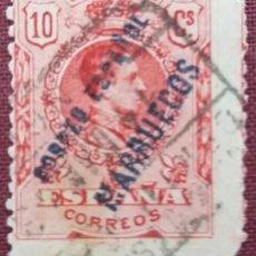 Sellos: TÁNGER. SELLOS DE ESPAÑA HABILITADOS, 1909-1914. 10 CTS. ROJO (Nº 3 EDIFIL).. Lote 142492230