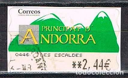 ANDORRA, ETIQUETA DE VALOR VARIABLE, MONTAÑAS, USADO (Sellos - España - Colonias Españolas y Dependencias - África - África Occidental)