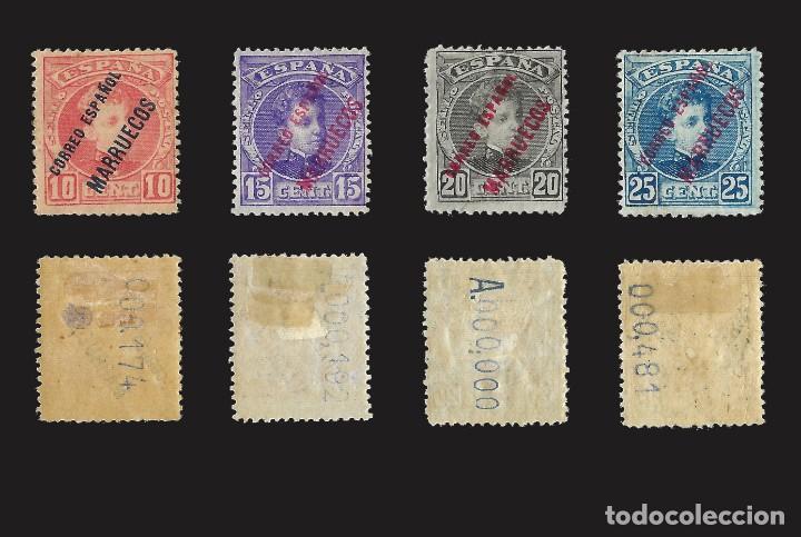 Sellos: MARRUECOS 1903-1909.Sellos España Habilitados.Serie completa.Nuevo..Edifil nº1-13 - Foto 3 - 142721166