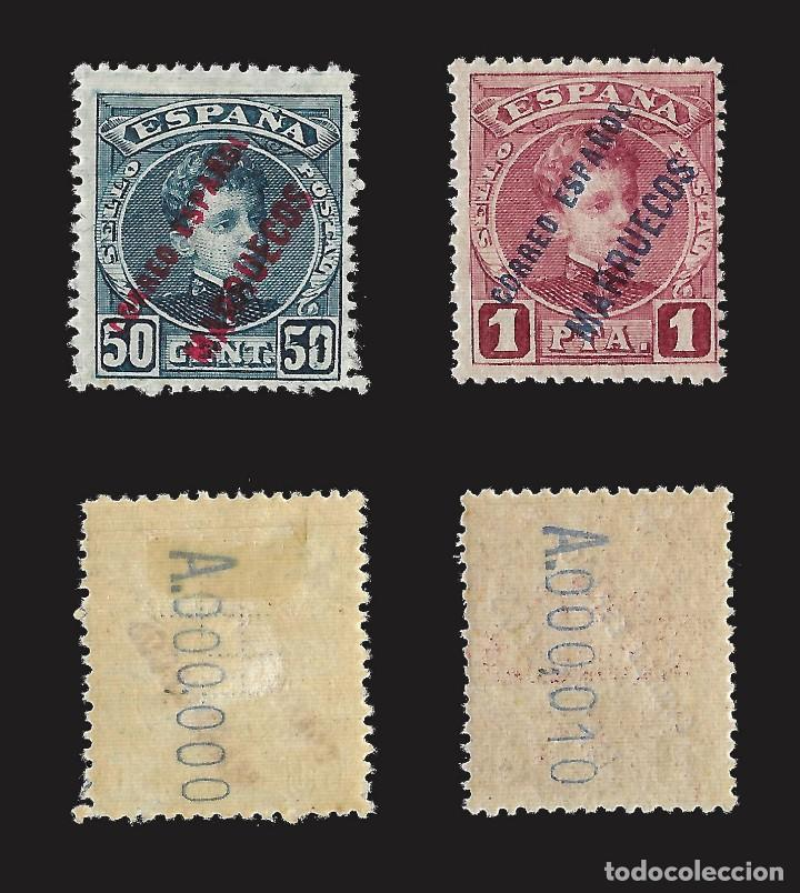 Sellos: MARRUECOS 1903-1909.Sellos España Habilitados.Serie completa.Nuevo..Edifil nº1-13 - Foto 6 - 142721166