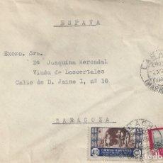 Sellos: CARTA PROTECTORADO ESPAÑOL LARACHE MARRUECOS A ZARAGOZA 1951. Lote 143034654