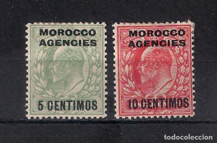MARRUECOS AGENCIAS 5 Y 10 CENT. * MH - 1/12 (Sellos - España - Colonias Españolas y Dependencias - África - Marruecos)
