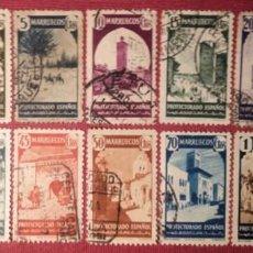 Sellos: MARRUECOS. 1940, TIPOS DIVERSOS. 14 VALORES (Nº 200-212 Y 216 EDIFIL). . Lote 143073706